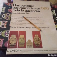 Relojes - Omega: ANTIGUO ANUNCIO PUBLICIDAD REVISTA AÑOS 70 RELOJ ORO OMEGA REVERSO WHISKY OLD SMUGGLER OSBORNE. Lote 143048862