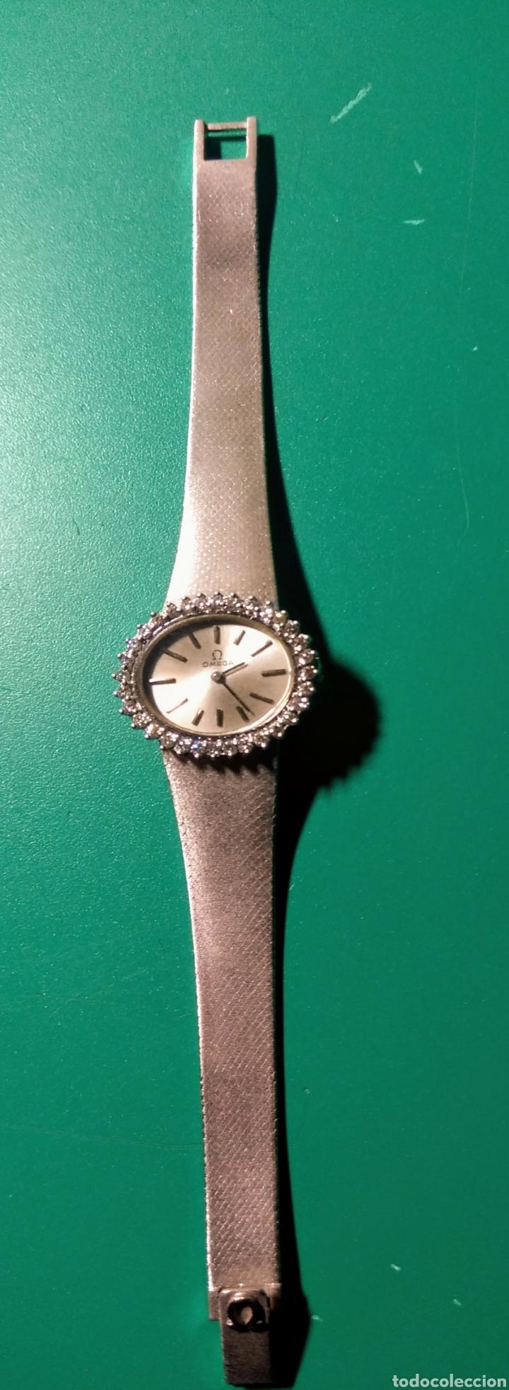 Relojes - Omega: Reloj con brillantes. Omega, oro blanco 18k. - Foto 4 - 144292024