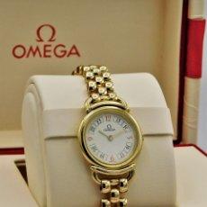 Relojes - Omega: OMEGA-CYMA-RELOJ JOYA-PULSERA DE ORO 18K-DE DAMA-QUARZ-EN FANTASTICO ESTADO. Lote 146580686