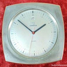 Relojes - Omega: RELOJ DE SOBREMESA. OMEGA 8 DAYS, METAL CROMADO. SUIZA. CIRCA 1970. . Lote 148787122