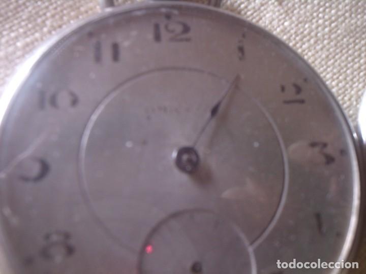 Relojes - Omega: ~~~~ ANTIGUO RELOJ DE BOLSILLO OMEGA DE PLATA LABRADA CON BELLISIMO TRABAJO, NO FUNCIONA. ~~~~ - Foto 7 - 150555210