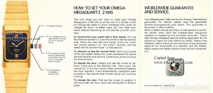 Relojes - Omega: OMEGA MEGAQUARTZ STARDUST 8-001 ORO 18 - Foto 2 - 153731910