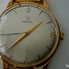 Relojes - Omega: RELOJ CABALLERO OMEGA CARGA MANUAL DE ORO, CADENA VERANO ORO, FUNCIONANDO, DIAMETRO 33 MM. Lote 155122502