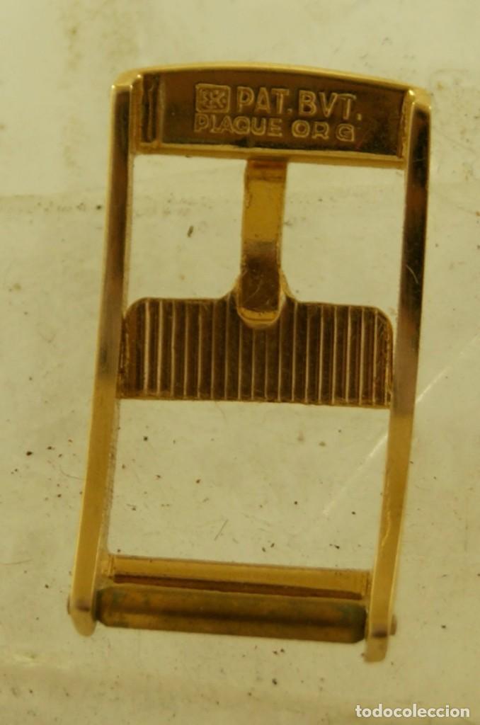 Relojes - Omega: HEBILLA ORIGINAL OMEGA CHAPADA EN ORO - Foto 3 - 159405596