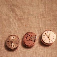 Relojes - Omega: 3 ANTIGUAS MÁQUINAS DE RELOJ DE SEÑORA OMEGA. Lote 156004874