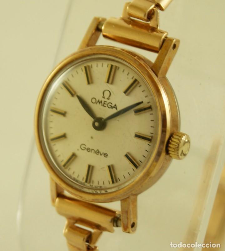 Relojes - Omega: PRECIOSO OMEGA MECANICO DE COCKTAILDE DAMA CHAPADO EN ORO FUNCIONANDO - Foto 3 - 159089094