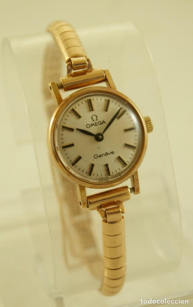 Relojes - Omega: PRECIOSO OMEGA MECANICO DE COCKTAILDE DAMA CHAPADO EN ORO FUNCIONANDO - Foto 4 - 159089094