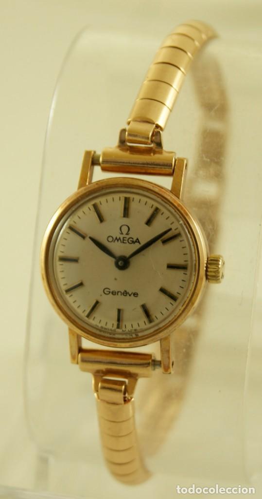 Relojes - Omega: PRECIOSO OMEGA MECANICO DE COCKTAILDE DAMA CHAPADO EN ORO FUNCIONANDO - Foto 5 - 159089094
