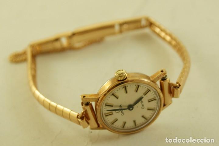 Relojes - Omega: PRECIOSO OMEGA MECANICO DE COCKTAILDE DAMA CHAPADO EN ORO FUNCIONANDO - Foto 6 - 159089094