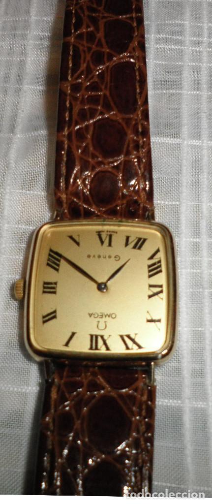 RELOJ OMEGA CHAPADO EN ORO DEVILLE DE SEÑORA CARGA MANUAL AÑOS 60 CORREA DE PIEL (Relojes - Relojes Actuales - Omega)