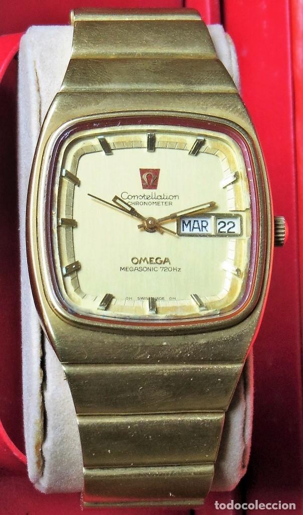 Relojes - Omega: OMEGA CONSTELLATION CHRONOMETER MEGASONIC 720 HZ ORO 18 - Foto 2 - 153731762