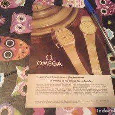 Relojes - Omega: ANTIGUO ANUNCIO PUBLICIDAD PARA ENMARCAR RELOJ OMEGA ESPECIAL COLECCIONISTAS. Lote 160827286