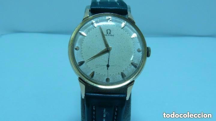 RELOJ OMEGA CALIBRE 266 Y ESFERA DOBLE TONO ORO DE 750MM (18 KLTS).AÑO 1954 (Relojes - Relojes Actuales - Omega)