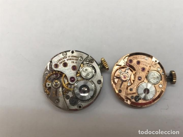 Relojes - Omega: Pareja de maquinaria de relojes omega y longines - Foto 2 - 166102666