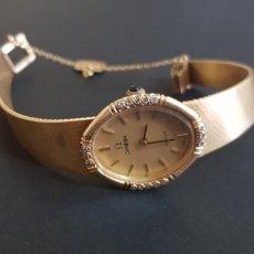 Relojes - Omega: RELOJ OMEGA DE ORO 18K Y BRILLANTES. Lote 173629210