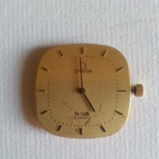 Relojes - Omega: MAQUINARIA DE RELOJ OMEGA ORO MODELO DE VILLE QUARTZ. MODIFICADO. AÑADIDA CORONA.. Lote 175086575