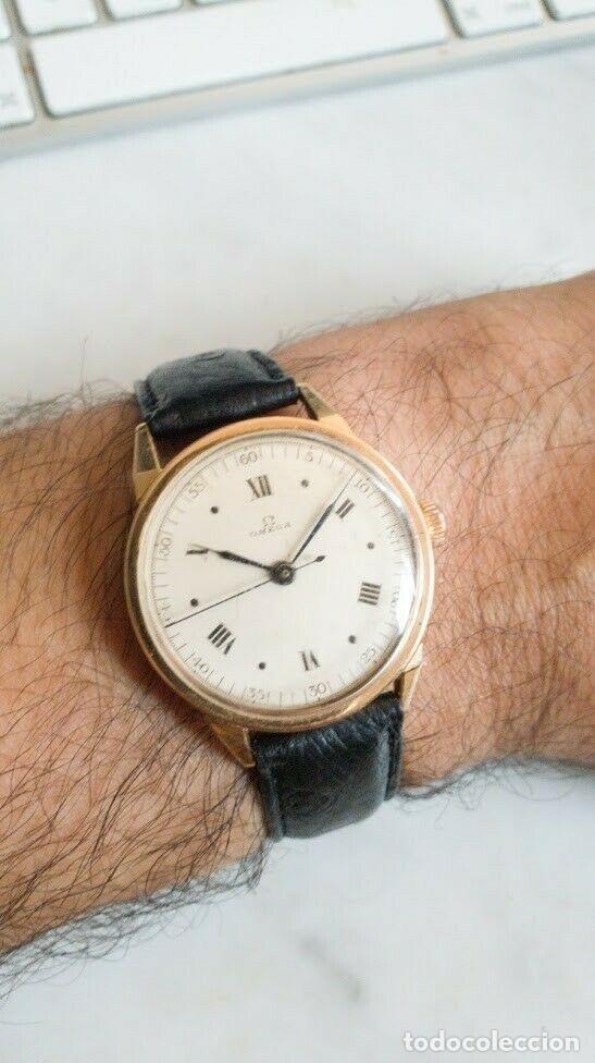 PRECIOSO RELOJ DE PULSERA MARCA OMEGA CON CAJA DE ORO DE 18 K CON PUNZON, AÑOS 40, RECIEN REVISADO (Relojes - Relojes Actuales - Omega)