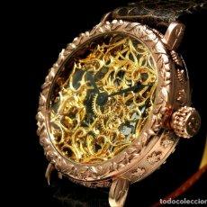 Relojes - Omega: RELOJ OMEGA AÑO 1920. ÚNICO. ORO ROSA. CAJA DE .44MM. ESQUELETO. MODIFICADO. Lote 178827465