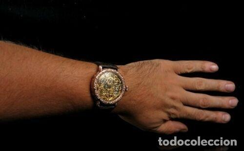 Relojes - Omega: RELOJ OMEGA AÑO 1920. ÚNICO. ORO ROSA. CAJA de .44mm. ESQUELETO. MODIFICADO - Foto 6 - 178827465