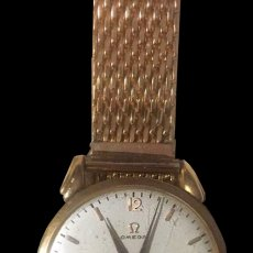 Relojes - Omega: RELOJ OMEGA CORREA METÁLICA CON BAÑO DE ORO. Lote 181961913