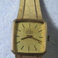 Relojes - Omega: PRECIOSO RELO MARCA OMEGA MODELO CONSTELLATION CHAPADO EN ORO CON ESFERA DORADA Y ARMIS EN ORO. Lote 182358167