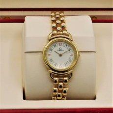 Relojes - Omega: OMEGA-RELOJ JOYA-PULSERA DE ORO 18K-DE DAMA-QUARZ. Lote 183277068
