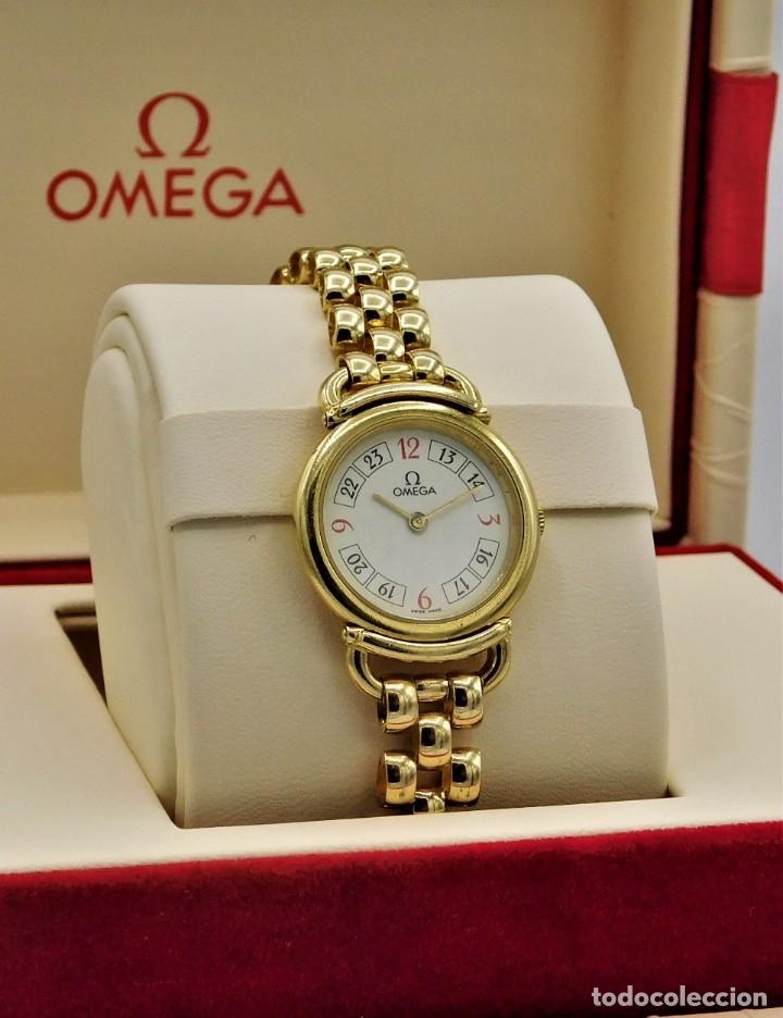 Relojes - Omega: OMEGA-RELOJ JOYA-PULSERA DE ORO 18K-DE DAMA-QUARZ - Foto 3 - 183277068