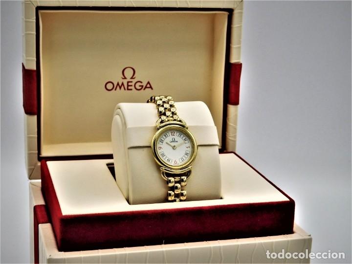 Relojes - Omega: OMEGA-RELOJ JOYA-PULSERA DE ORO 18K-DE DAMA-QUARZ - Foto 7 - 183277068