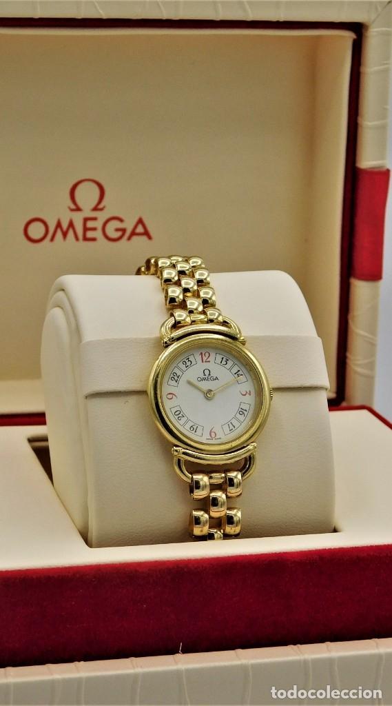 Relojes - Omega: OMEGA-RELOJ JOYA-PULSERA DE ORO 18K-DE DAMA-QUARZ - Foto 12 - 183277068