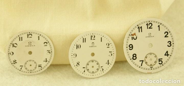 LOTE DE 3 ESFERAS OMEGA ESMALTE (Relojes - Relojes Actuales - Omega)