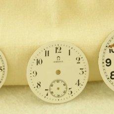 Relojes - Omega: LOTE DE 3 ESFERAS OMEGA ESMALTE. Lote 187612932