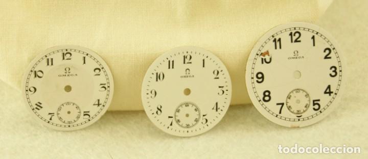 Relojes - Omega: LOTE DE 3 ESFERAS OMEGA ESMALTE - Foto 2 - 187612932
