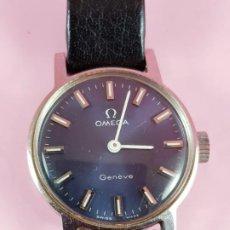 Relojes - Omega: RELOJ-OMEGA GENEVE-SEÑORA-20,5+22,5 MM-PRECIOSO-ESFERA VIOLÁCEA-COMO NUEVO O SIMILAR. Lote 194695746