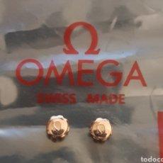 Relojes - Omega: PAREJA CORONAS CHAPADAS ORO ROSA 6MM. Lote 194789417