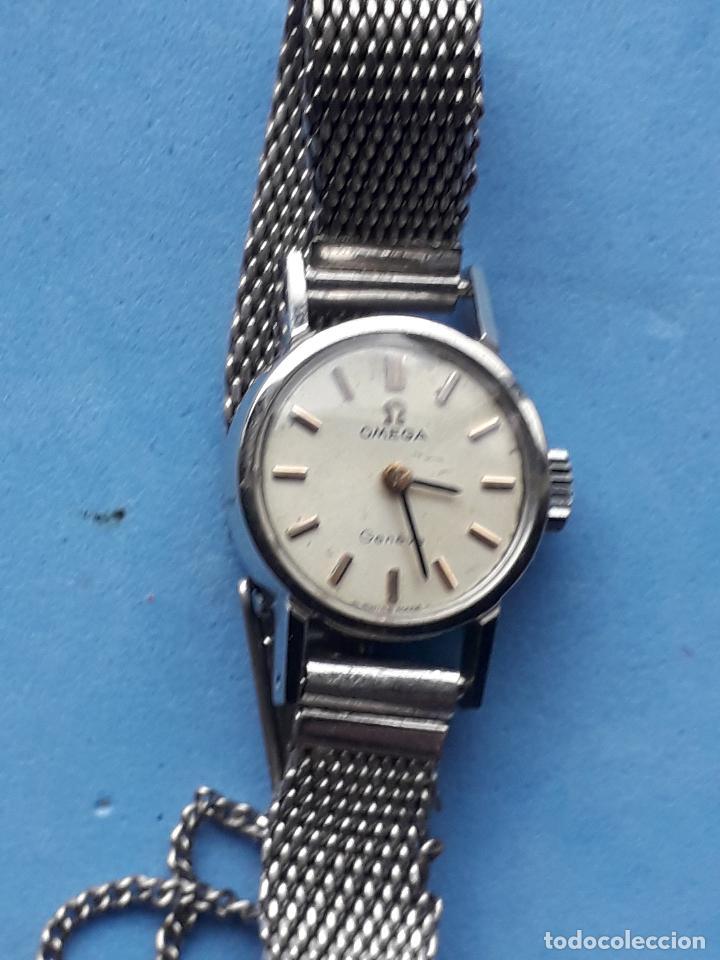Relojes - Omega: Reloj Marca Omega Geneve. Clásico de dama. Funcionando. - Foto 3 - 196058458
