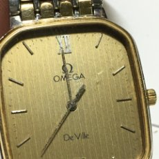 Orologi - Omega: RELOJ OMEGA DE VILLE ACERO Y ORO CHAPADO CORREA ORIGINAL. Lote 217119135