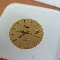 Relojes - Omega: MÁQUINA DE RELOJ OMEGA DE CUARZO, CALIBRE OMEGA 1430, ESFERA COLOR CHAMPAN Y AGUJAS ORIGINALES. . Lote 199357723