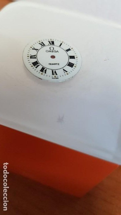 UNA ESFERA PARA RELOJ MARCA OMEGA DE CUARZO, EN MUY BUEN ESTADO BLANCA ES STOCK DE TALLER RELOJERIA. (Relojes - Relojes Actuales - Omega)