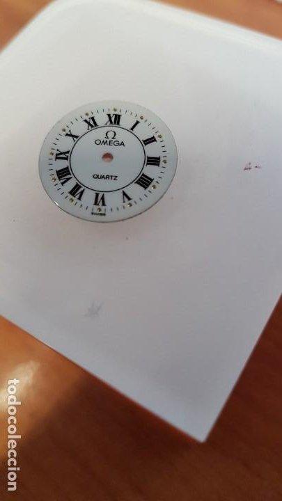 Relojes - Omega: Una esfera para reloj marca OMEGA de cuarzo, en muy buen estado blanca es stock de taller relojeria. - Foto 2 - 199371931