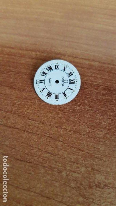 Relojes - Omega: Una esfera para reloj marca OMEGA de cuarzo, en muy buen estado blanca es stock de taller relojeria. - Foto 5 - 199371931