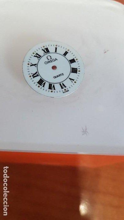 Relojes - Omega: Una esfera para reloj marca OMEGA de cuarzo, en muy buen estado blanca es stock de taller relojeria. - Foto 6 - 199371931