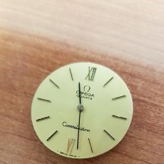 Relojes - Omega: MÁQUINA DE RELOJ OMEGA DE CUARZO, CALIBRE OMEGA 1220, ESFERA COLOR CHAMPAN Y AGUJAS ORIGINALES. . Lote 199391780