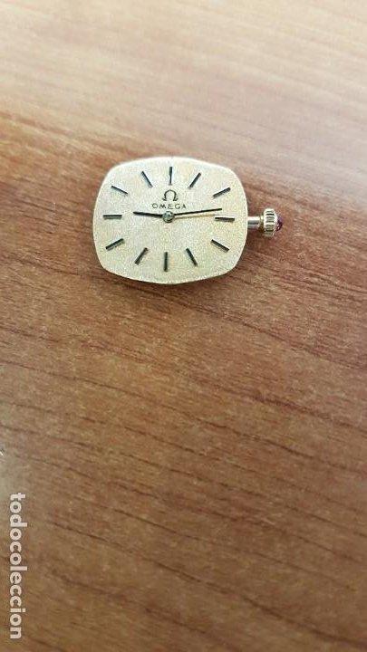 Relojes - Omega: Máquina de reloj OMEGA de cuerda manual, calibre Omega 625, Esfera oro muy buena y agujas originales - Foto 5 - 199400655
