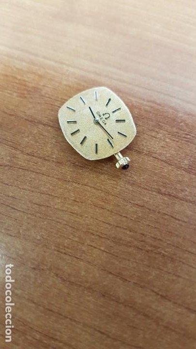 Relojes - Omega: Máquina de reloj OMEGA de cuerda manual, calibre Omega 625, Esfera oro muy buena y agujas originales - Foto 12 - 199400655