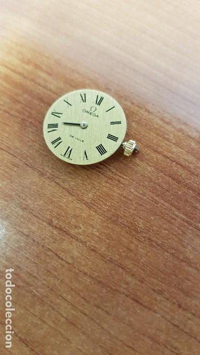 Relojes - Omega: Máquina reloj OMEGA de cuerda manual, calibre Omega 625, Esfera oro muy buena y una aguja original - Foto 5 - 199418158