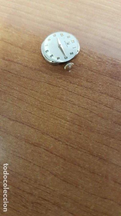 Relojes - Omega: Máquina de reloj OMEGA de cuerda manual, calibre Omega 244, Esfera blanca buena y agujas originales. - Foto 3 - 199467873
