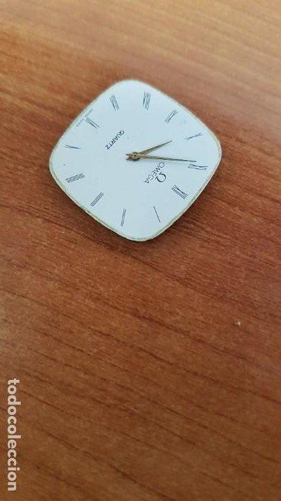 Relojes - Omega: Máquina de reloj OMEGA de cuarzo, calibre Omega 1365, Esfera color blanca con agujas originales. - Foto 4 - 199664246