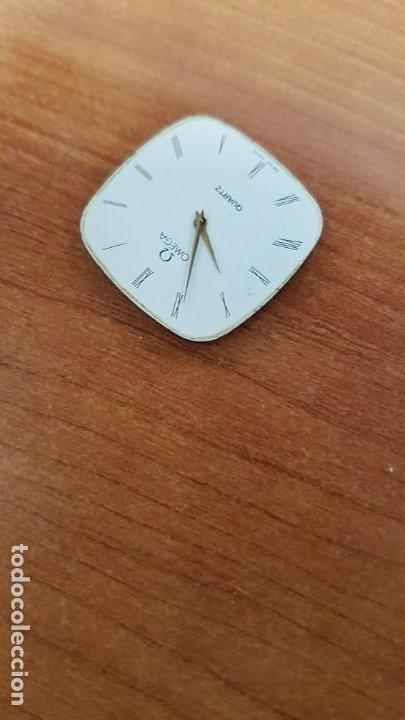 Relojes - Omega: Máquina de reloj OMEGA de cuarzo, calibre Omega 1365, Esfera color blanca con agujas originales. - Foto 6 - 199664246