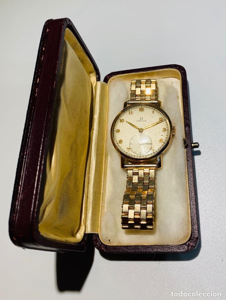 Relojes - Omega: Reloj Omega Caja Oro 18kt / Armis Plaqué Oro. Cal.30T2. 35mm. 15 Jewels. Box. 1944. Funcionando MBE - Foto 13 - 201109701