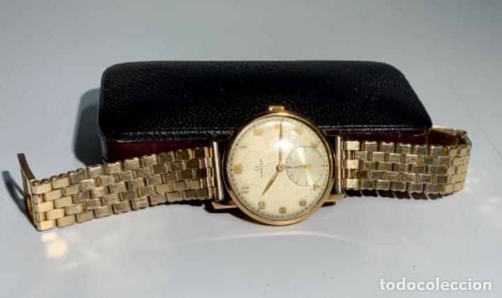 Relojes - Omega: Reloj Omega Caja Oro 18kt / Armis Plaqué Oro. Cal.30T2. 35mm. 15 Jewels. Box. 1944. Funcionando MBE - Foto 21 - 201109701